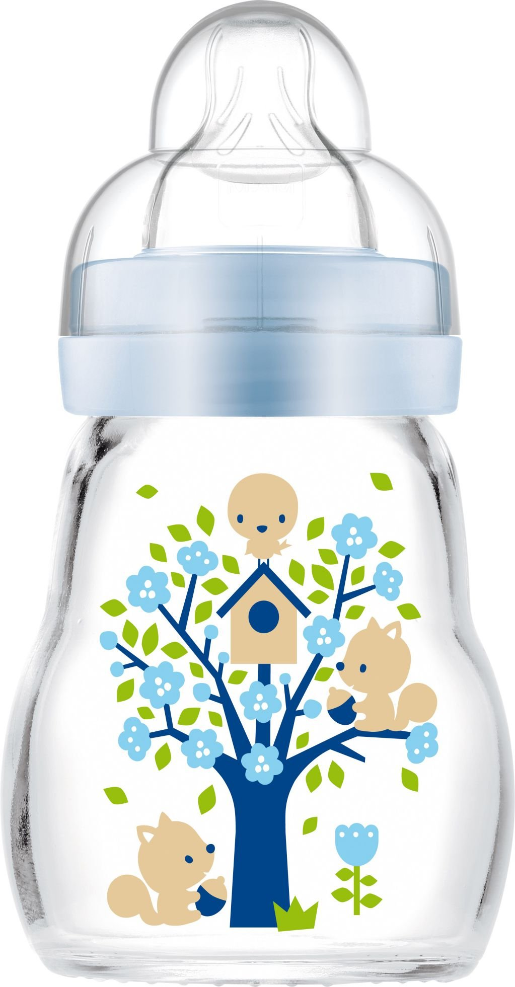 MAM Feel Good Sutteflaske i Glas 170 ml. Blue