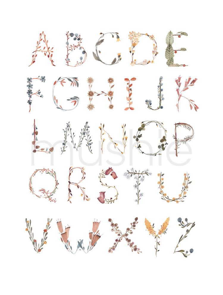 Mushie Plakat Alphabet International Large