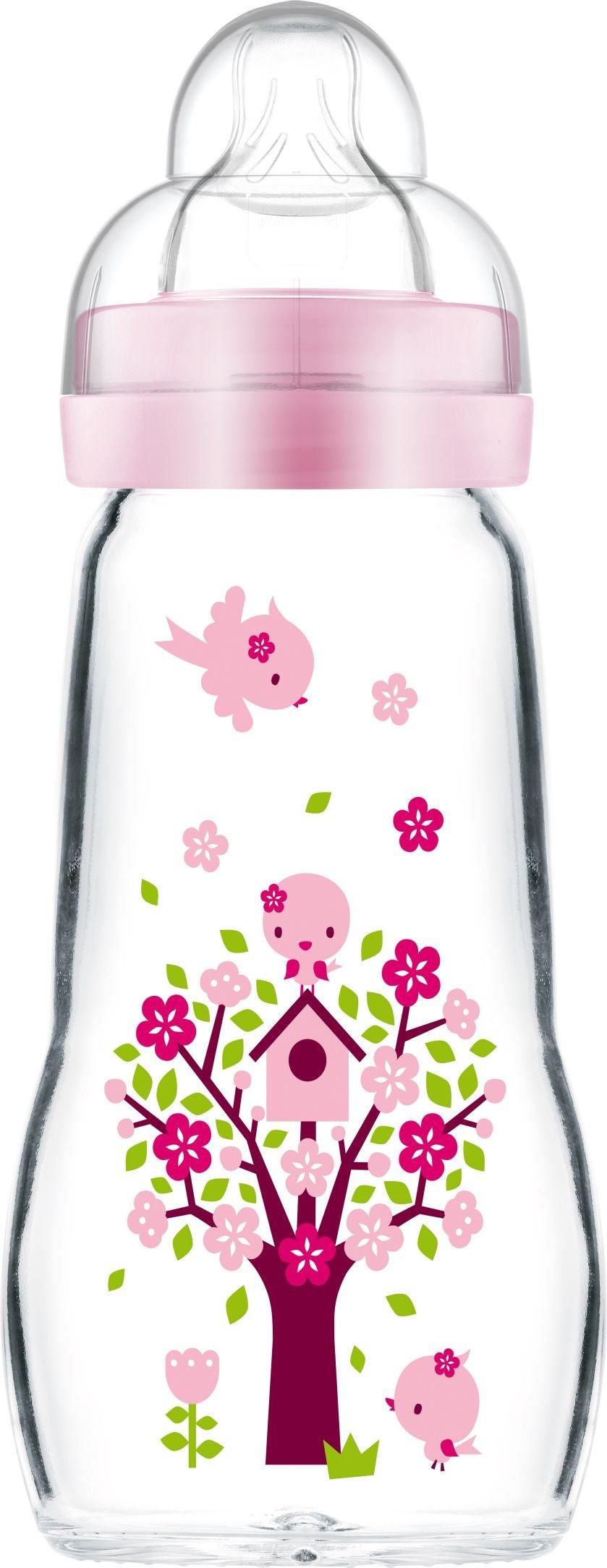MAM Feel Good Sutteflaske i Glas 260 ml. Pink