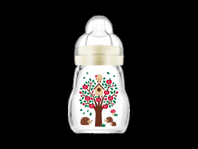 MAM Feel Good Sutteflaske i Glas 170 ml. Ivory