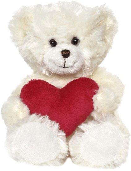 Teddykompaniet Samuel Med Hjerte White