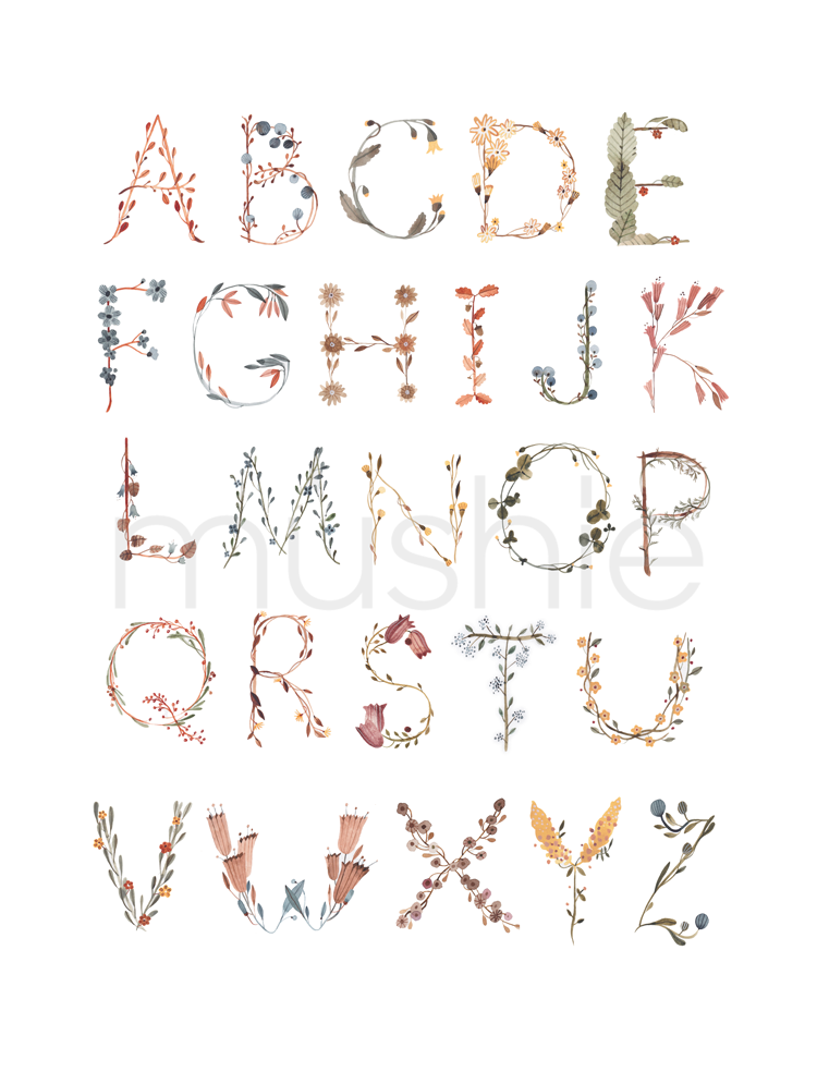 Mushie Plakat Alphabet International Medium