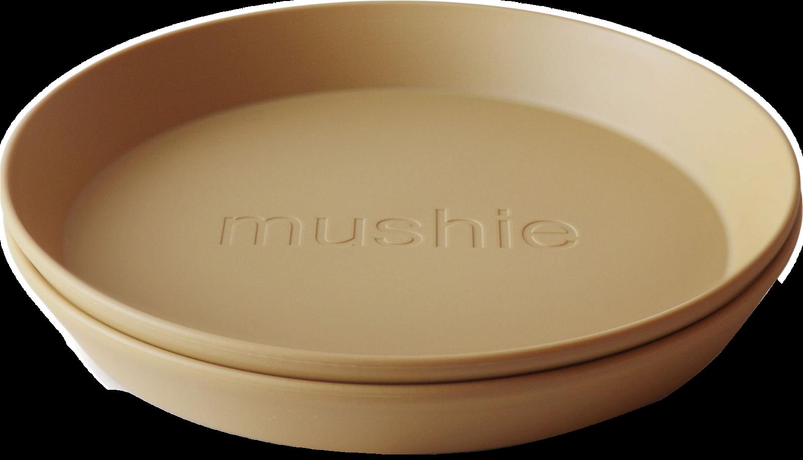 Mushie Tallerken Rund Mustard