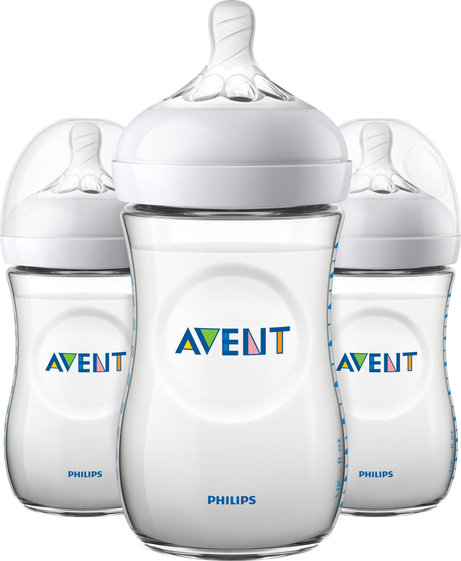 Philips AVENT 3 x 260 ml. Natural Sutteflasker