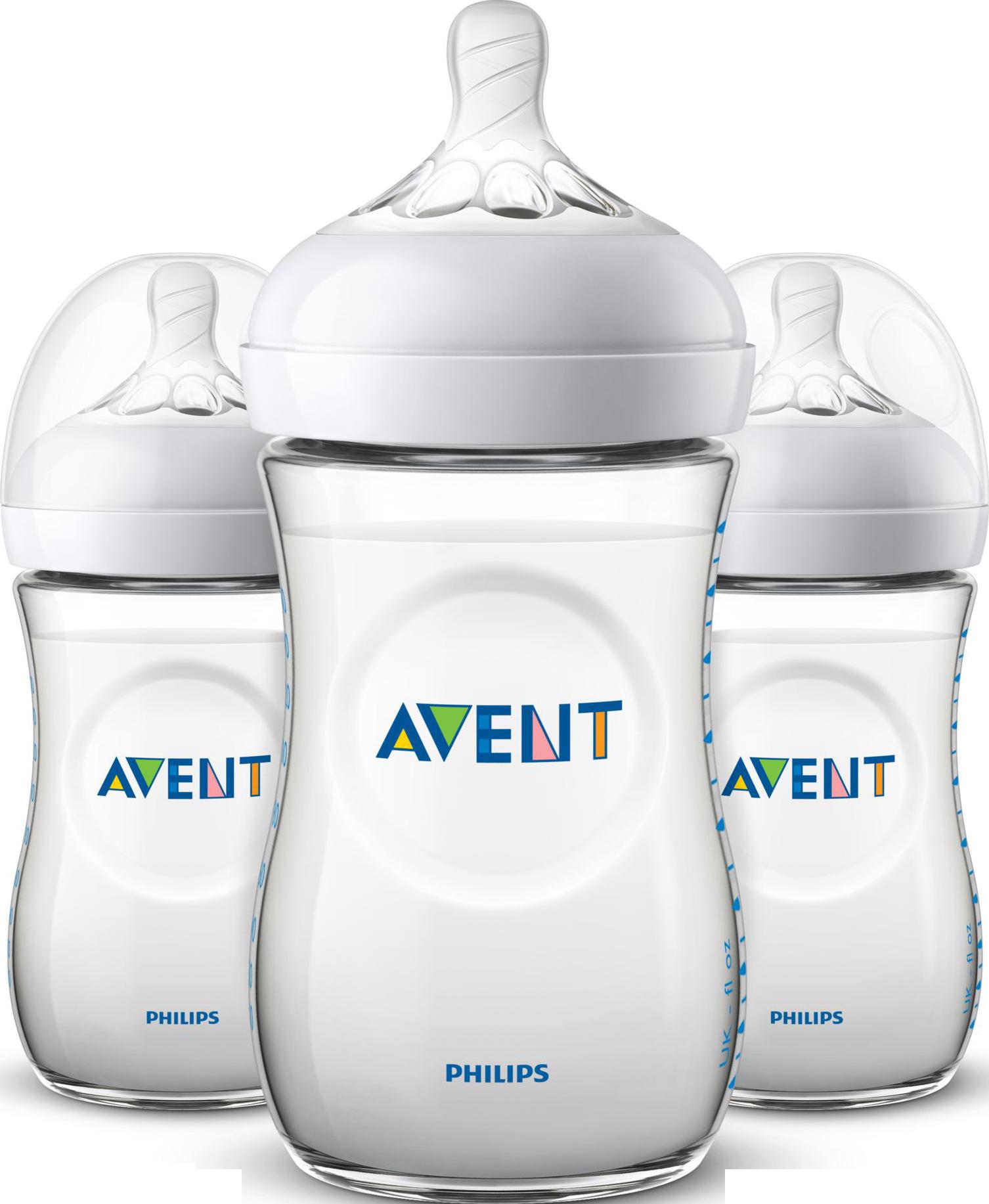 Philips AVENT 3 x 260 ml. Natural Sutteflasker