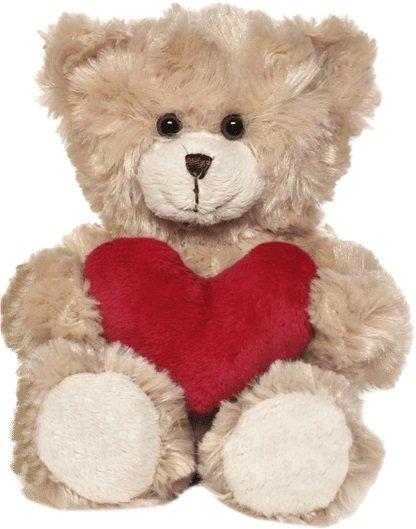 Teddykompaniet Samuel Med Hjerte Brown