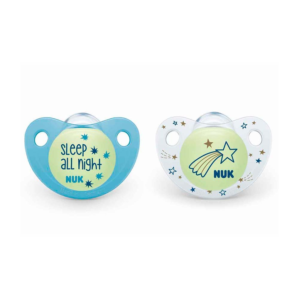 NUK Night & Day 0-6 mdr. Silikone sutter