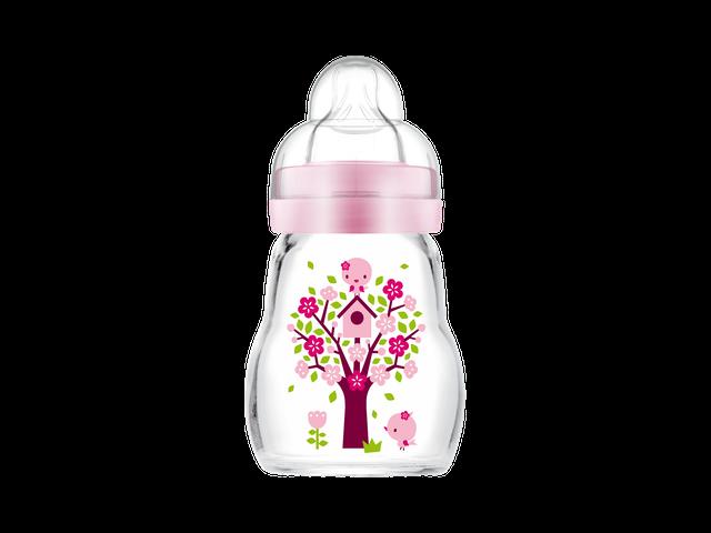 MAM Feel Good Sutteflaske i Glas 170 ml. Pink