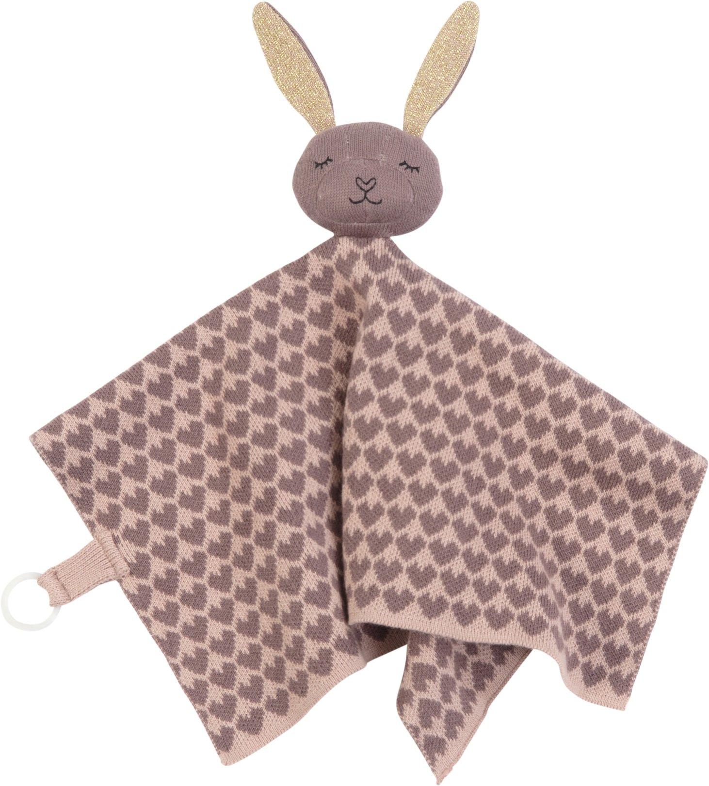 Smallstuff Nusseklud Strikket Bunny Powder