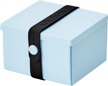 Uhmm Box Madkasse No. 02 Light Blue / Black