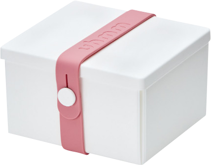 Uhmm Box Madkasse No. 02 White / Pink